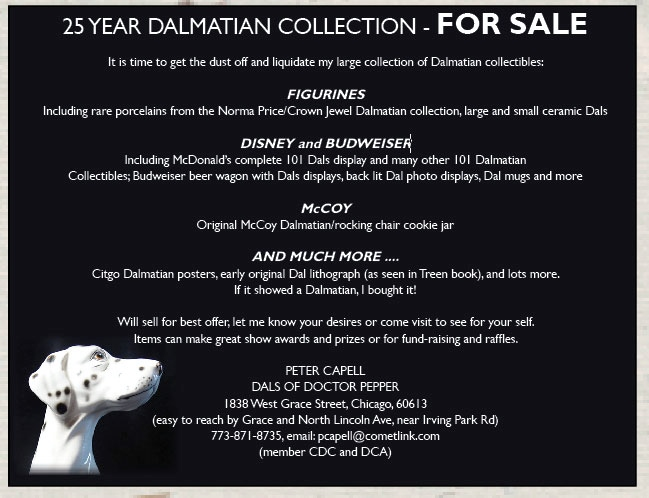 Dalmatian Collectibles For Sale